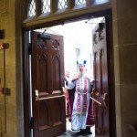 Archbishop Vigneron opens the Holy Door of Mercy