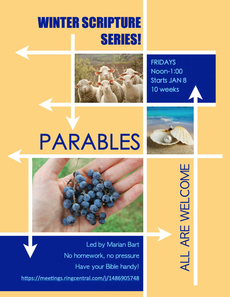 lambs, grapes, and a pearl of great price advertising our Friday bible study