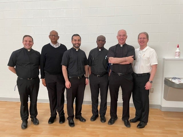 a lineup of our six clergy members